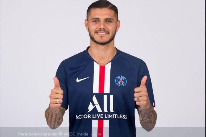 Mauro Icardi resmi gabung Paris Saint-Germain.