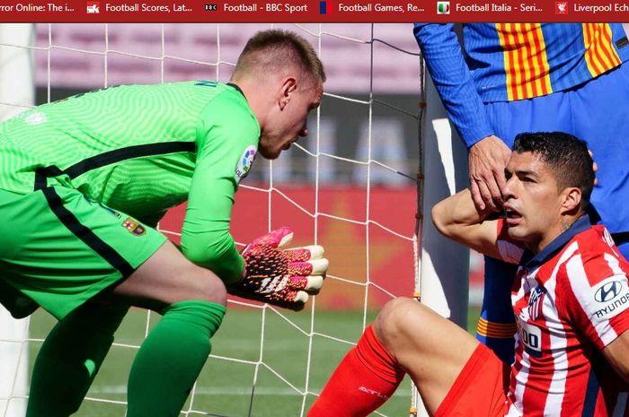 Reuni Luis Suarez dengan Barcelona berujung cekcok hingga disebut gendut dan sempat membentak eks rekan setimnya, Marc-Andre ter Stegen.