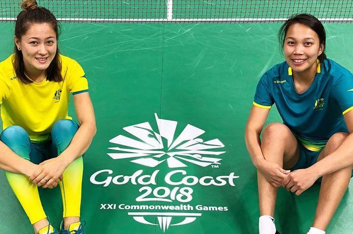 Gronya Somerville (kiri) dan Setyana Mapasa (kanan) saat memperkuat Australia dalam ajang Commonwealth Games 2018