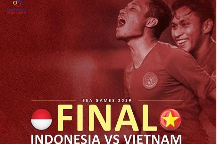 Final SEA Games 2019 antara timnas U-22 Indonesia vs Vietnam.