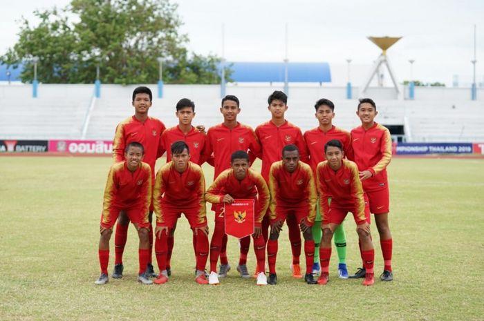 Para pemain Timnas U-16 Indonesia