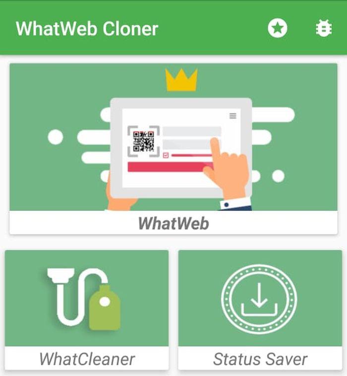 Tampilan WhatWeb Cloner