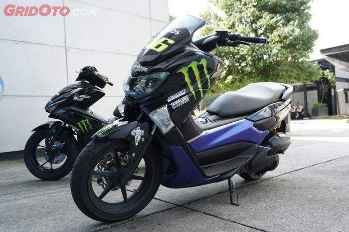 NMAX dan Aerox dengan livery Monster Energy Yamaha MotoGP