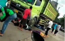 Dengkul Langsung Lemes, Truk Tanah Hilang Kendali Gilas 5 Motor di Tangerang, Korban Bergelimpangan