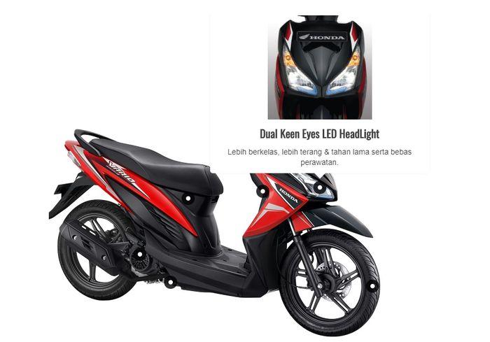 Dual headlamp LED tidak dimiliki Honda BeAT