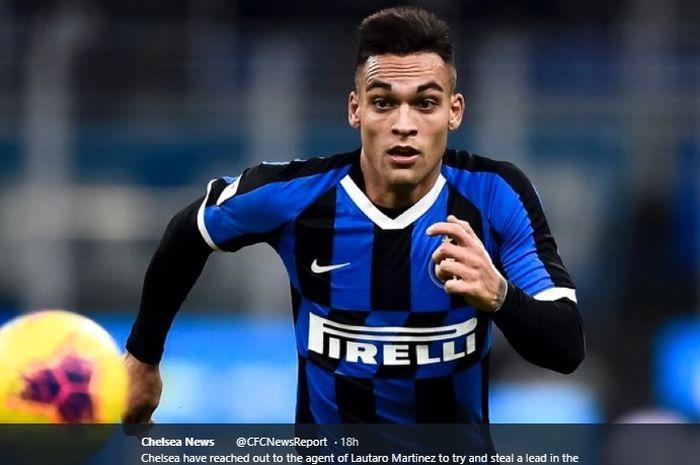 Striker asal Argentina, Lautaro Martinez, dirumorkan akan hengkang dari klub yang dibelanya saat ini, Inter Milan