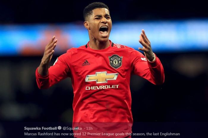 Penyerang Manchester United, Marcus Rashford.