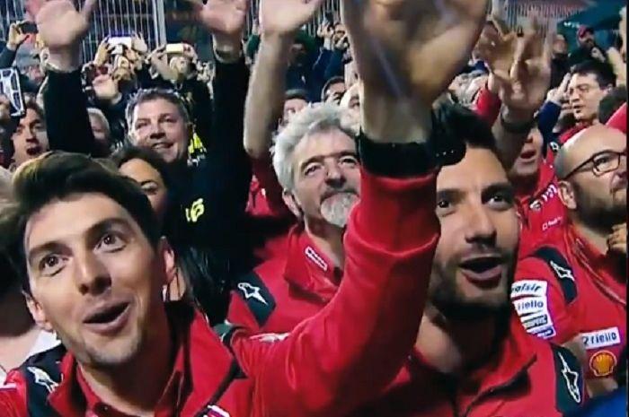 Bos Ducati Luigi Dal'Igna hampir menangis melihat Andrea Dovizioso juara di MotoGP Qatar.