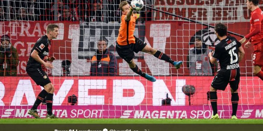 Bayern Tumbang, Kiper Bayer Leverkusen Sempat Main dengan Sebelah Mata