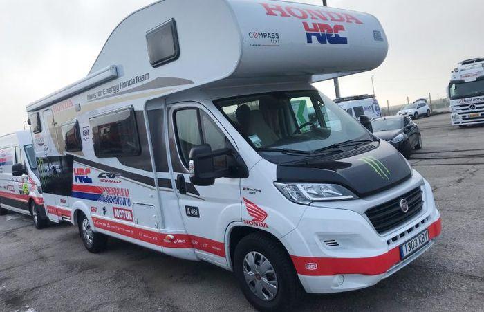 Salah satu mobil pendukung tim pabrikan Honda untuk Reli Dakar 2019