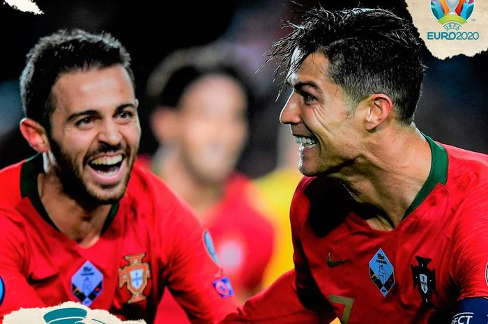 Megabintang Portugal, Cristiano Ronaldo (kanan).