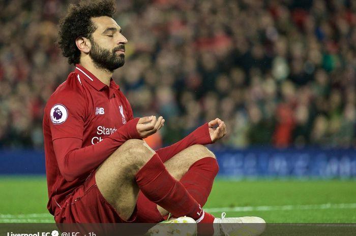 Penyerang sayap Liverpool, Mohamed Salah.