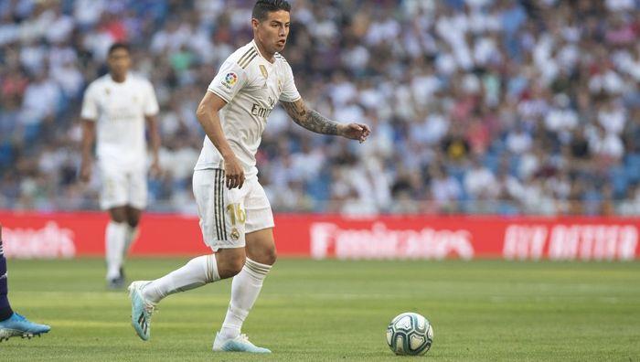Pemain Real Madrid, James Rodriguez.