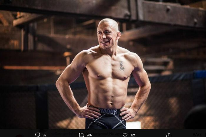 Georges St-Pierre, legenda UFC yang merupakan musuh impian Khabib Nurmagomedov.