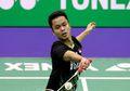 Momen Anthony Ginting Bangkit dan Tersenyum Setelah 'Dicurangi' Wasit di Final Hong Kong Open 2019