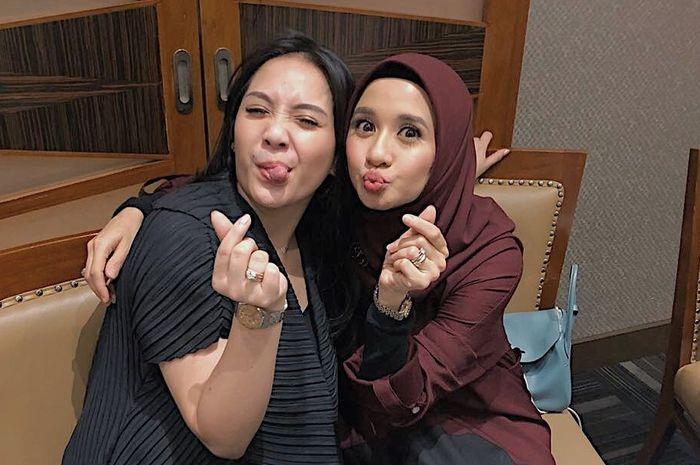 Nagita Slavina  bersama Laudya Cynthia Bella
