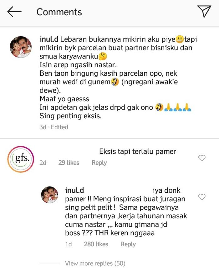 Inul Daratista beri jawaban menohok usai disebut sok pamer oleh netizen.