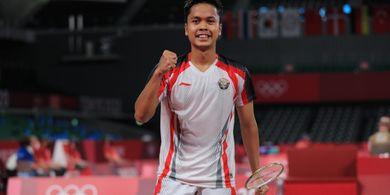 Olimpiade Tokyo 2020 - Anthony Ginting Gunting Raket hingga Akhiri Penantian 17 Tahun Indonesia