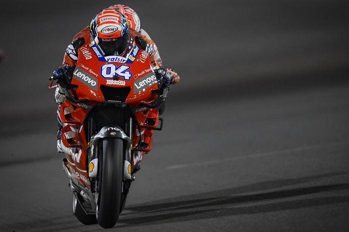 Pembalap tim Mission Winnow Ducati, Andrea Dovizioso, berhasil menempati posisi pertama di MotoGP Qatar 2019.