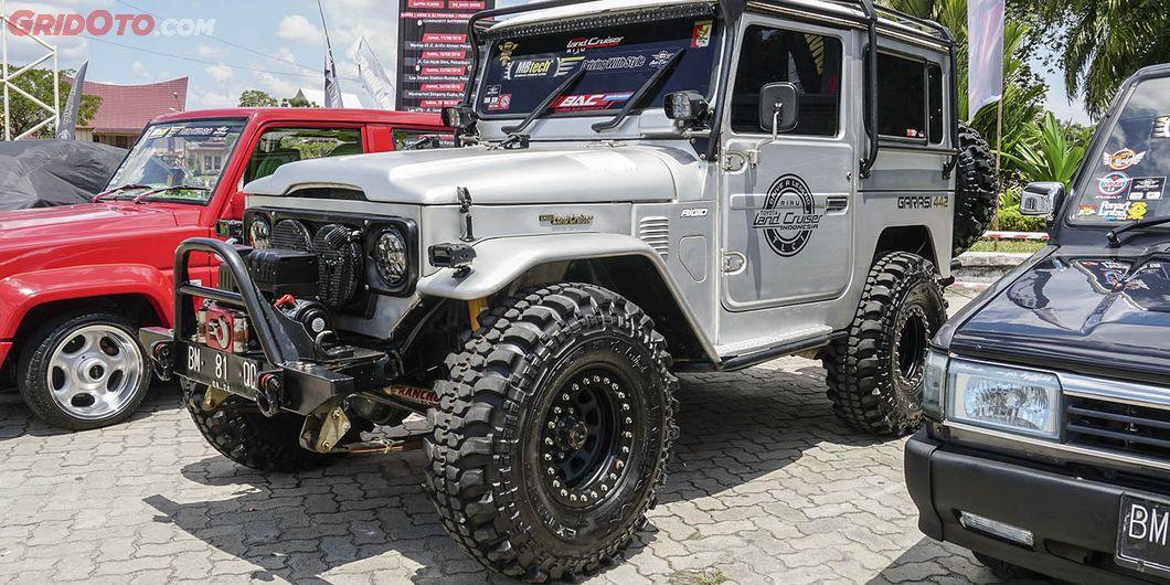 Hardtop Alias FJ40, peserta MBtech Auto Combat seri 2 Pekanbaru 2018. Photo : Agus Salim