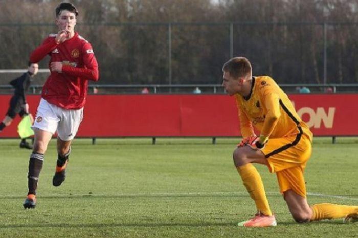 Charlie McNeill, pemain tim muda Manchester United yang diklaim sudah torehkan 600 gol.