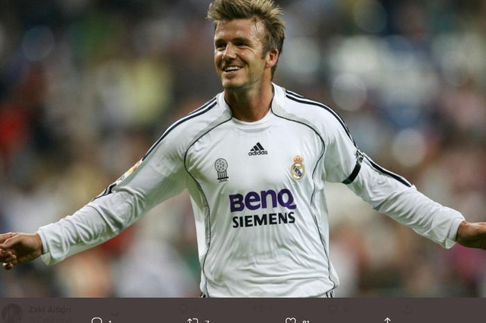 David Beckham saat masih membela Real Madrid.