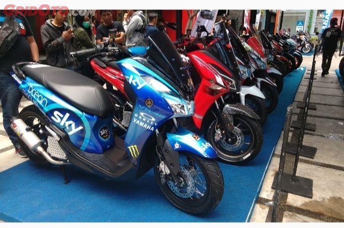 Deretan modifikasi Yamaha Lexi di Customaxi Yamaha Bandung