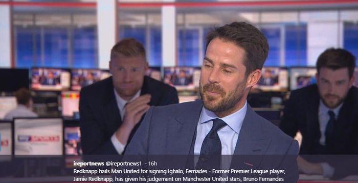 Mantan gelandang Liverpool, Jamie Redknapp, memberikan pendapatnya terkait Bruno Fernandes yang mampu mendongkrak performa Manchester United.