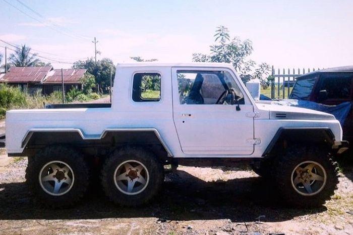 Modifikasi Suzuki Katana pakai 6 roda