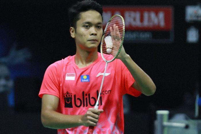 Pebulu tangkis tunggal putra Indonesia, Anthony Sinisuka Ginting sukses melaju ke semifinal Thailand Yonex Open 2021.