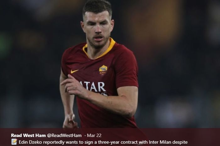 Striker AS Roma asal Bosnia, Edin Dzeko