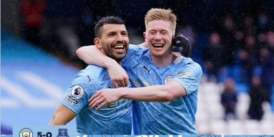 Hasil Liga Inggris - Man City Pesta Gol, Aguero Cetak Brace, Perpisahan Berakhir Manis