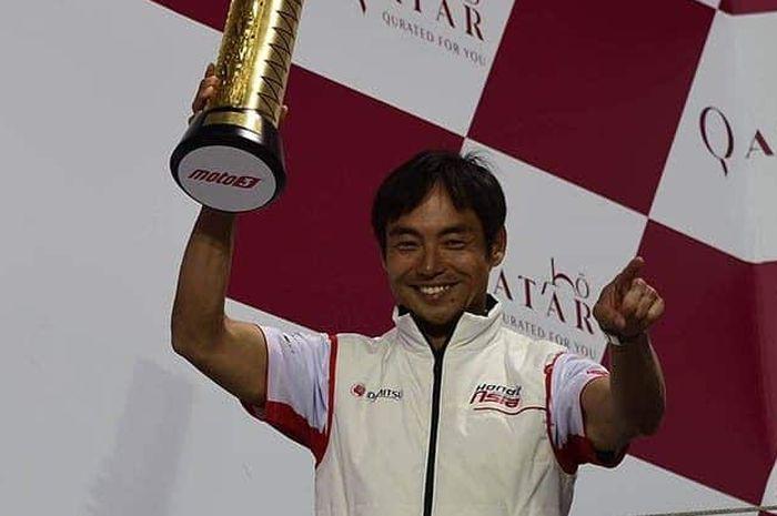 Manajer Honda Team Asia, Hiroshi Aoyama yang menaungi pembalap Indonesia di Moto2 2020, Andi Gilang.