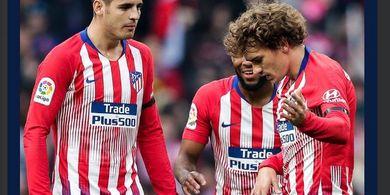 Hasil Liga Spanyol, Duet Morata-Griezmann Bikin Atletico Geser Real Madrid