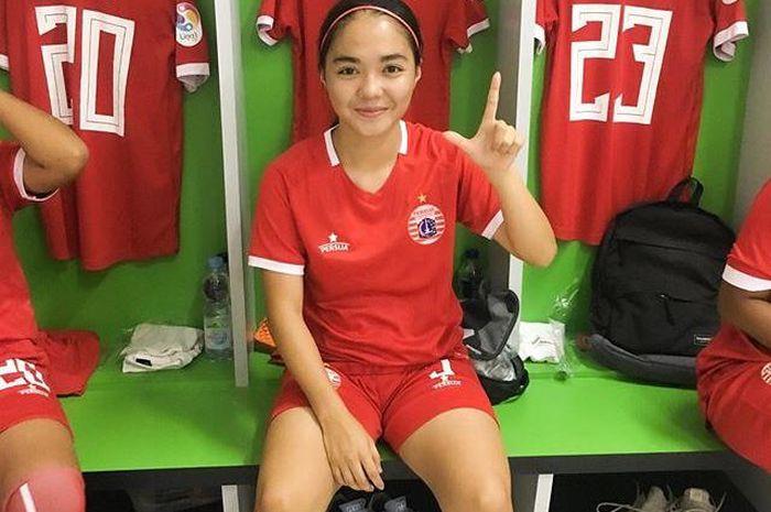Pemain tim putri Persija Jakarta, Anggita Oktaviani.