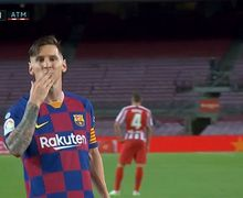 VIDEO - Cetak Gol ke-700, Panenka Lionel Messi Kelabui Jan Oblak