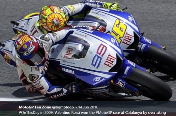 Cerita Bos Yamaha Soal Susahnya Atur Valentino Rossi dan Jorge Lorenzo