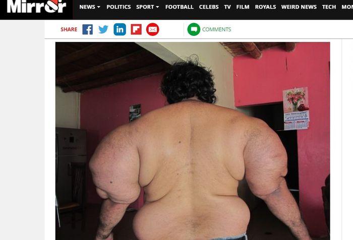 Penampakan tubuh Alejandro Ramos dari belakang