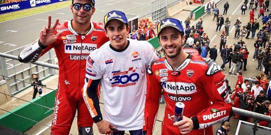 MotoGP Prancis 2019 - Danilo Petrucci Sempat Takut Tabrak Dovizioso