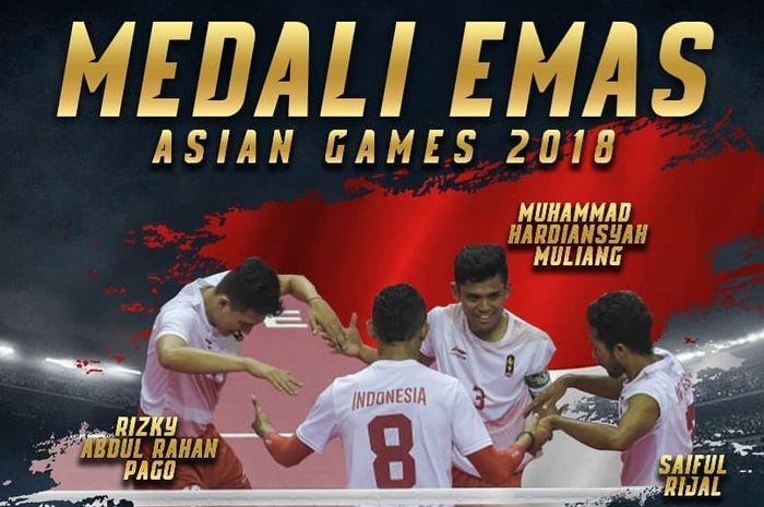 Medali emas ke-31 bagi kontingen Indonesia di Asian Games 2018.