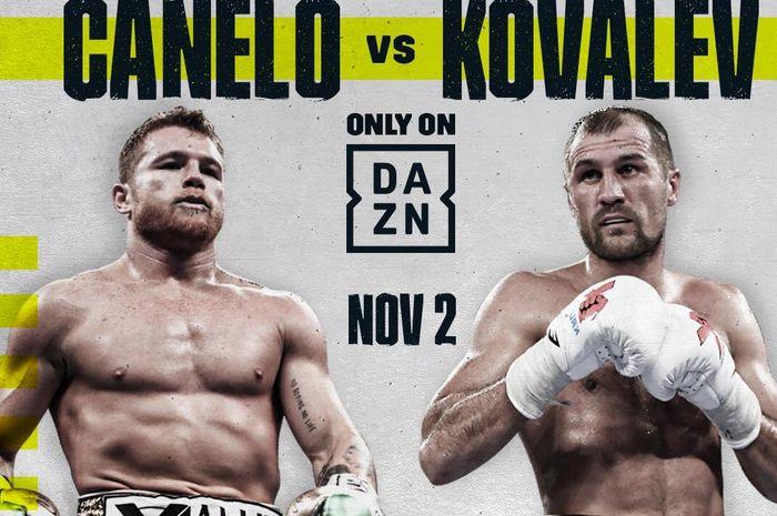 Pertarungan light heavyweight antara Canelo Alvarez dan Sergey Kovalev pada 2 November 2019 di Las Vegas, Nevada.