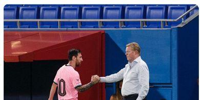 Ronald Koeman Tak Peduli Bubarnya Persahabatan Lionel Messi-Luis Suarez di Barcelona