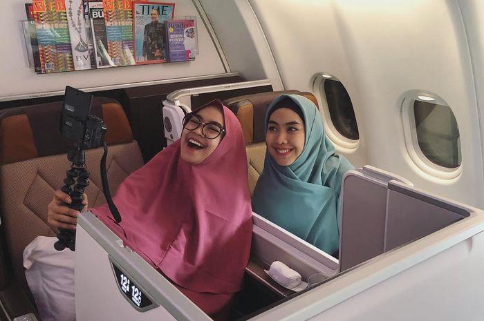 Ria Ricis dan Oki Setiana Dewi sedang dalam perjalanan ke Palestina