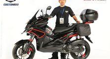 Yamaha Aerox Jelmaan BMW R1200GS Jadi The Best Touring Look di Bandung