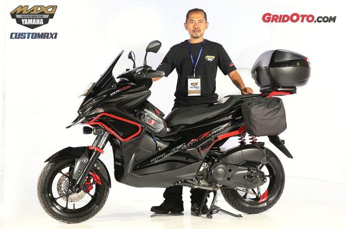 Yamaha Aerox Best Touring Customaxi Yamaha seri Bandung 2019 bersama sang owner