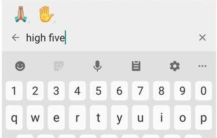 Ilustrasi hasil pencarian emoji berdasarkan kata kunci