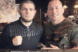 UFC Tinggal Lakukan Hal Ini Agar Duel Khabib Nurmagomedov vs Georges St-Pierre Terwujud
