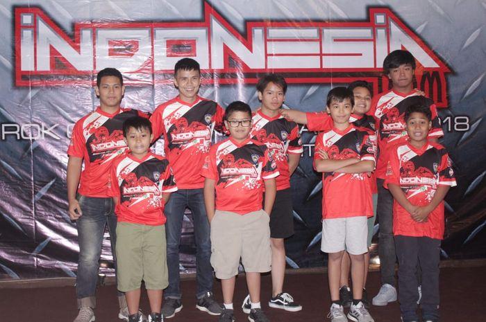 TIm Indonesia dengan jumlah 13 pegokart tampil di ROK Cup International 2018 di Italia