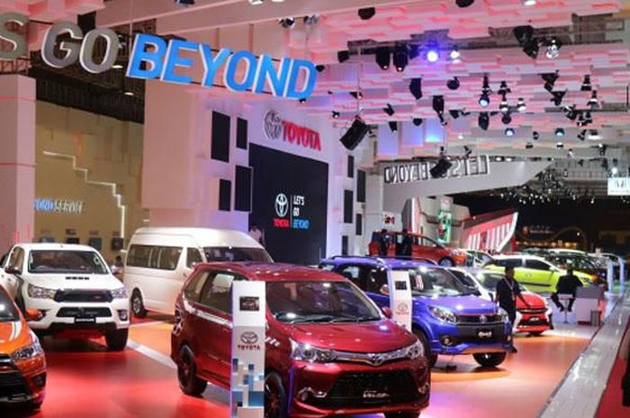 Ilustrasi booth Toyota di ajang pameran otomotif