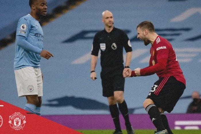 Tren kemenangan Manchester City selama 21 pertandingan berturut-turut akhirnya putus karena mereka kalah 0-2 dari Manchester United pada laga lanjutan Liga Inggris, Minggu malam WIB.